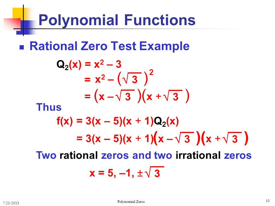 how to find zeros of a polynomial function