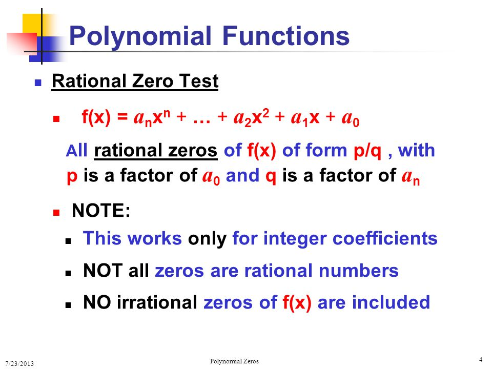 how to find zeros of cubic polynomial