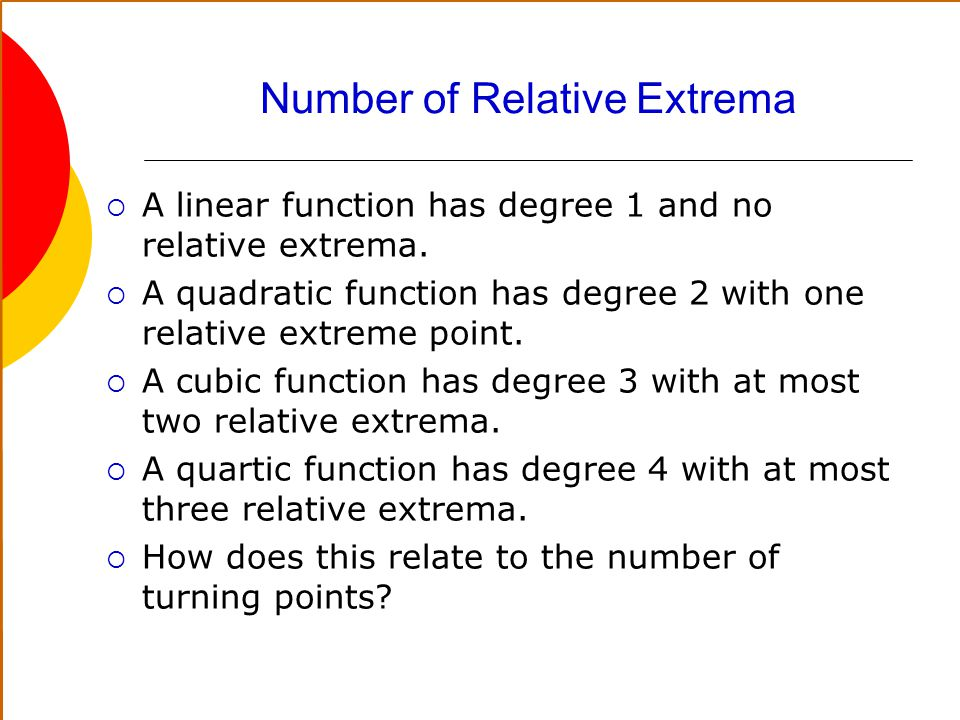 Number of Relative Extrema