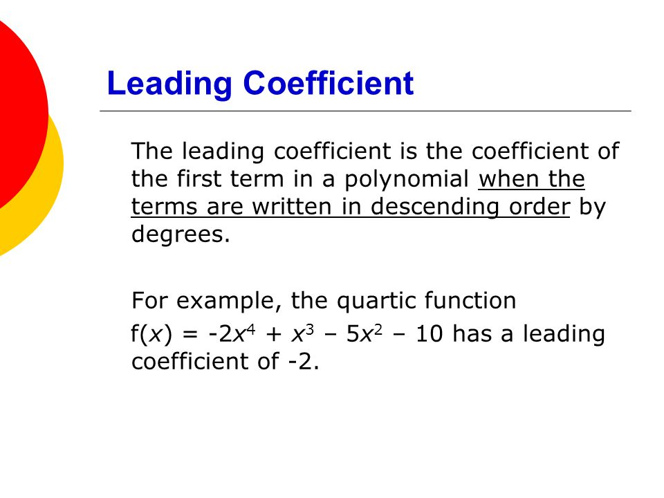 Leading Coefficient