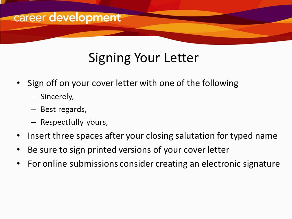 Closing Letter With Regards from slideplayer.com