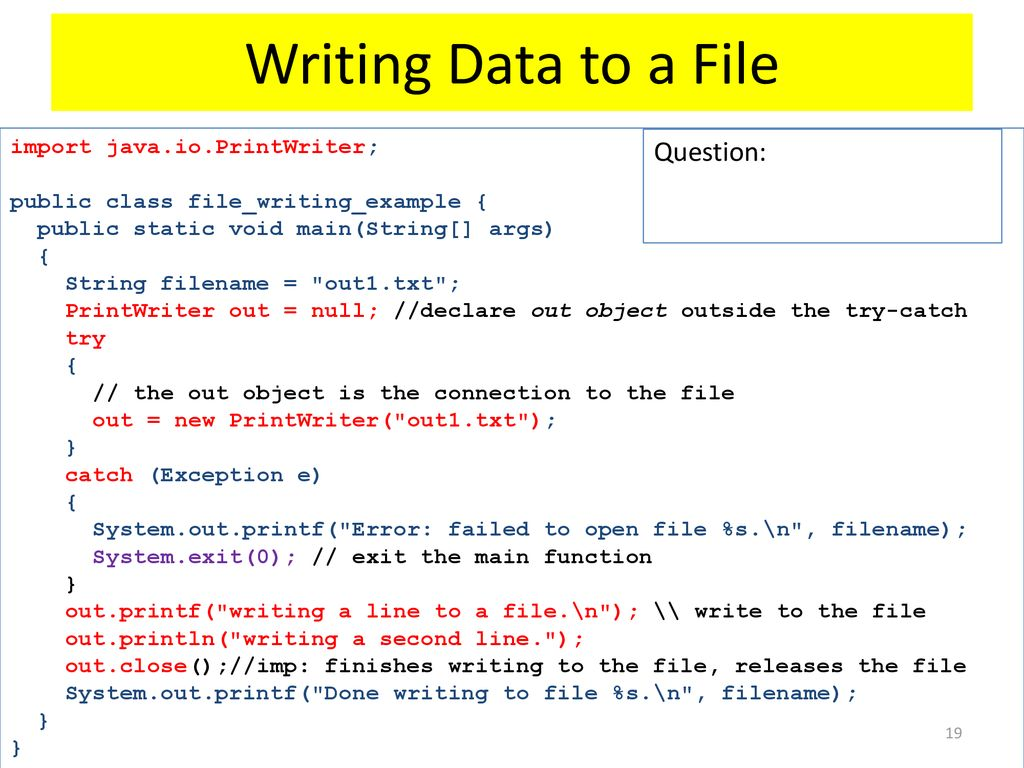 Files & Exception Handling - ppt download
