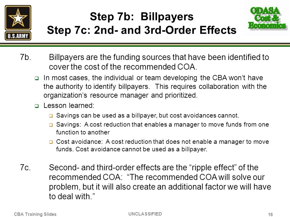 Step 7b: Billpayers Step 7c: 2nd- and 3rd-Order Effects