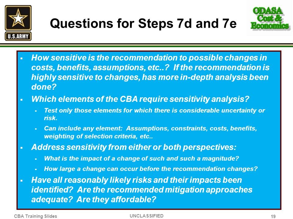 Questions for Steps 7d and 7e