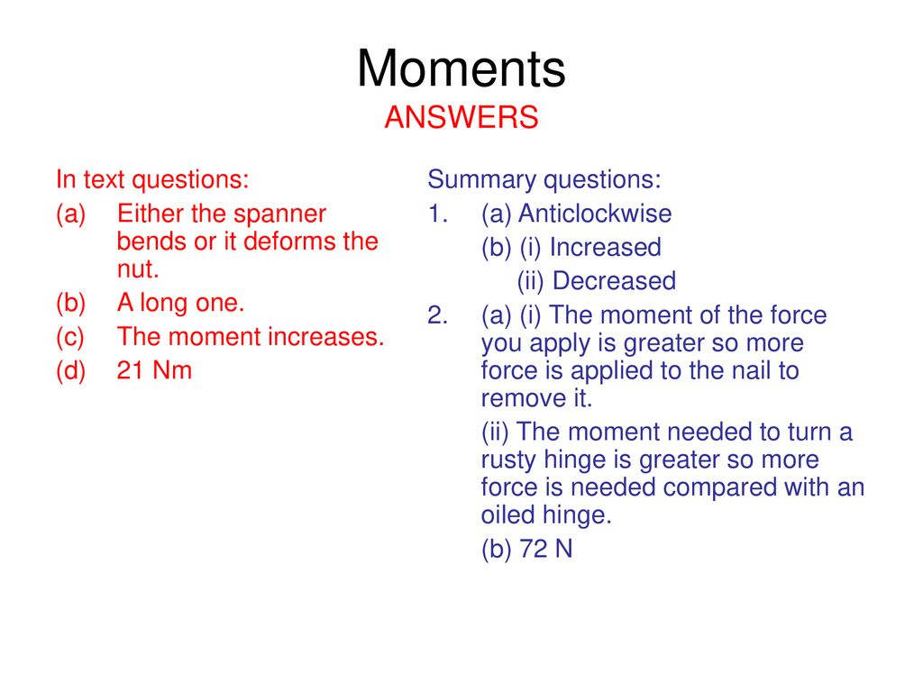 AQA GCSE Physics 3-1a Turning Forces Moments & Stability
