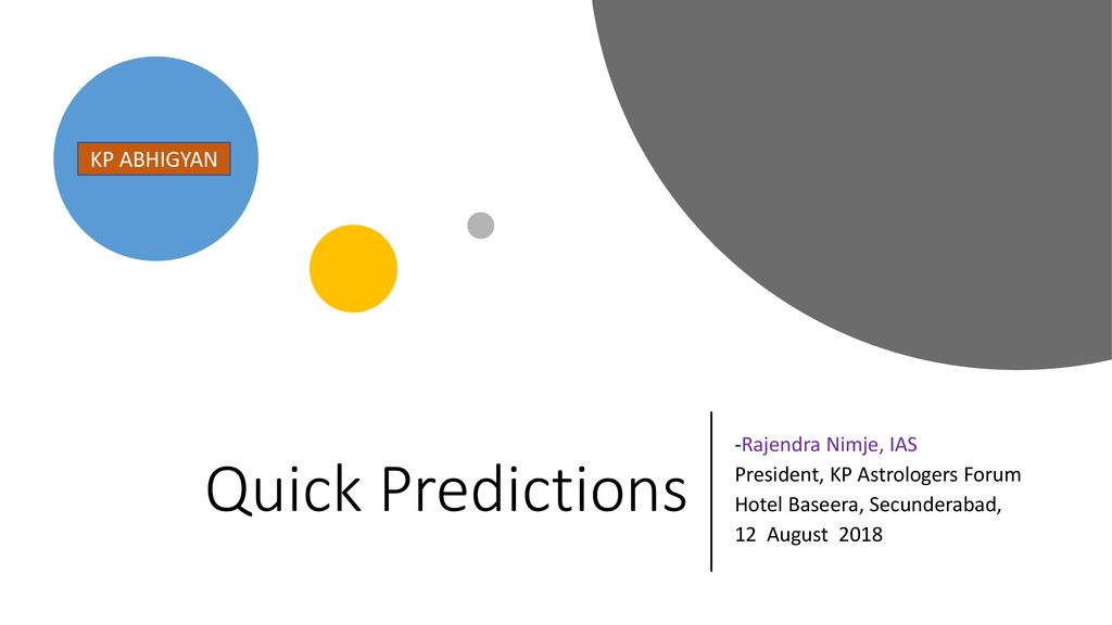 Quick Predictions KP ABHIGYAN -Rajendra Nimje, IAS - ppt download