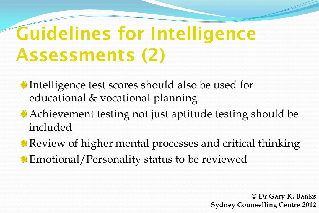 Guidelines for Intelligence Assessments (2)