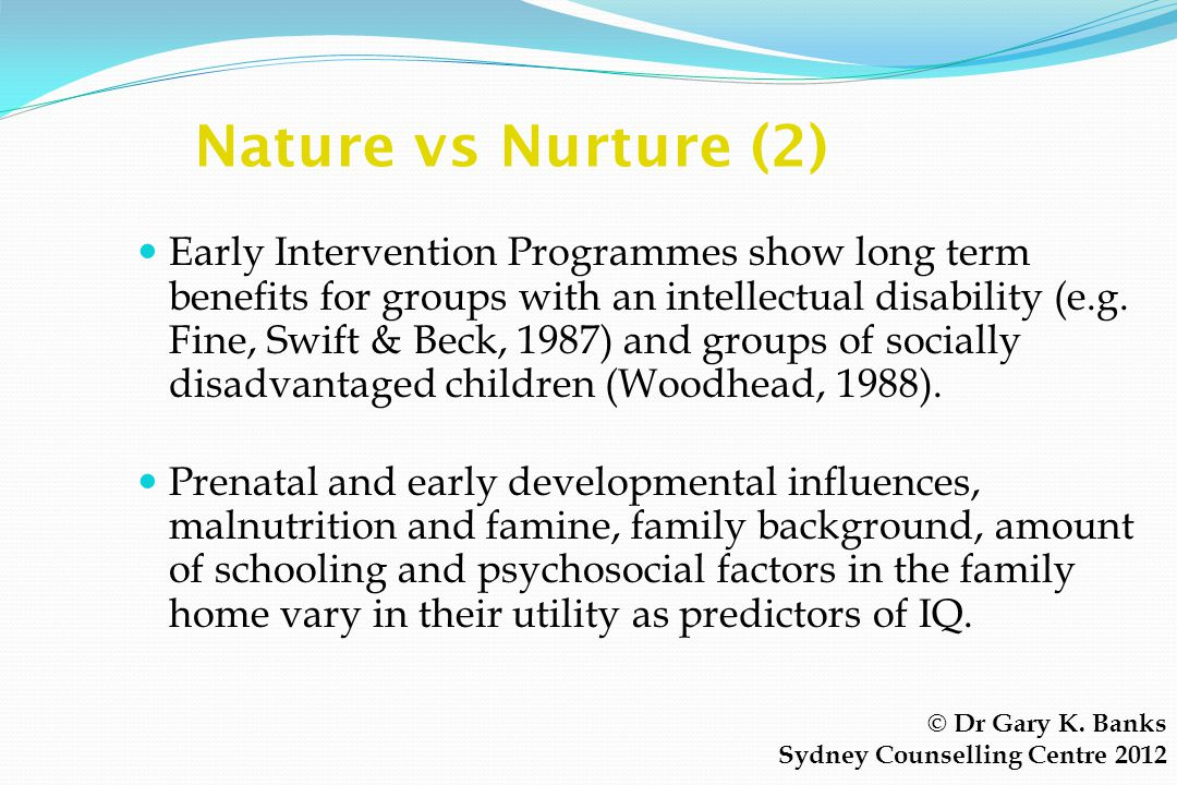 Nature vs Nurture (2)