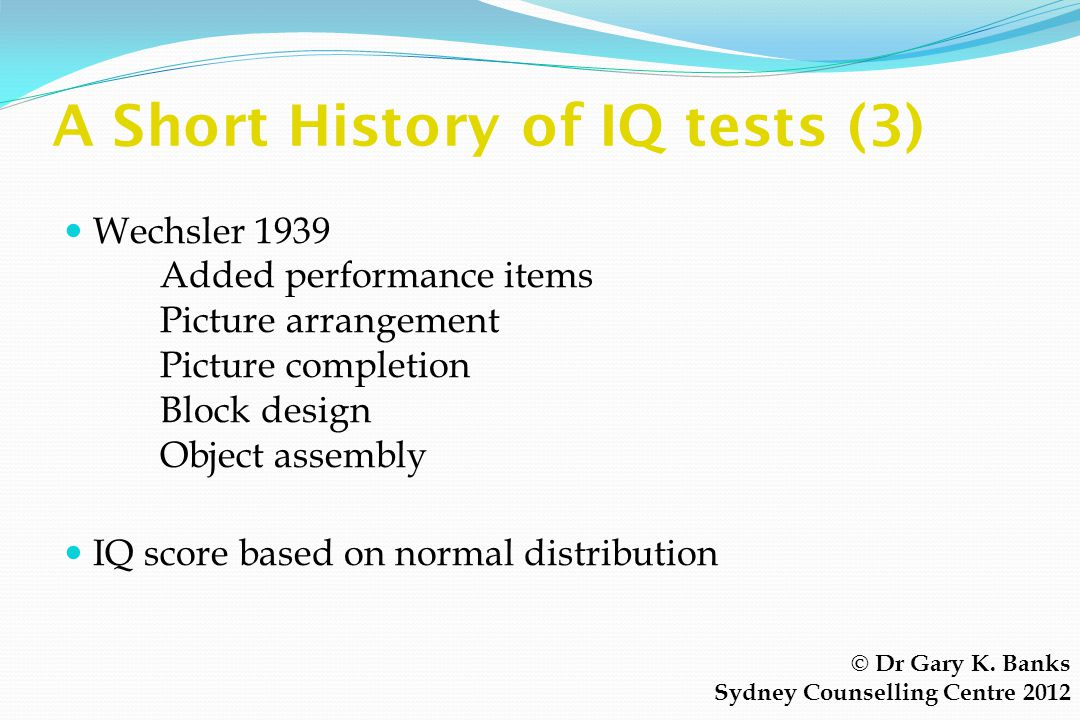 A Short History of IQ tests (3)