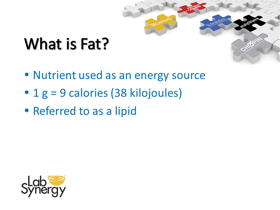 What is Fat Nutrient used as an energy source