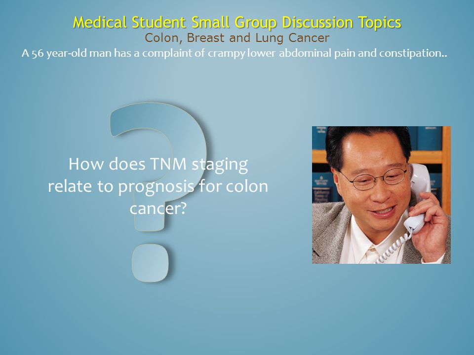 How does TNM staging relate to prognosis for colon cancer