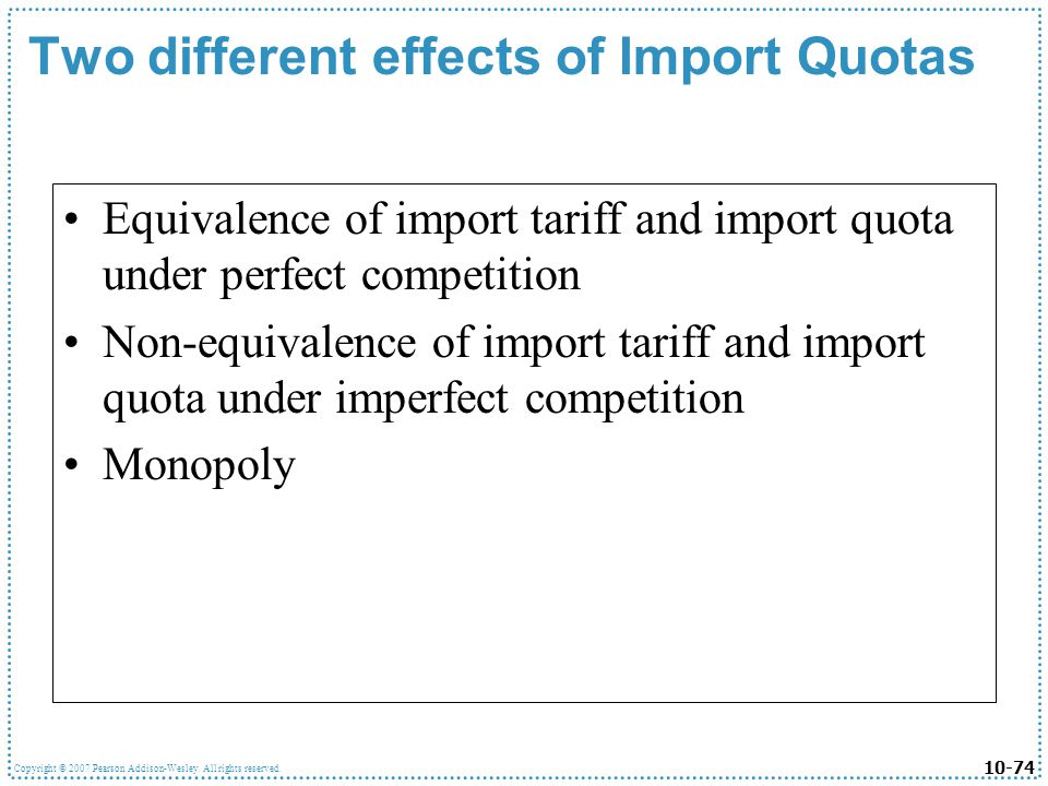 Two different effects of Import Quotas