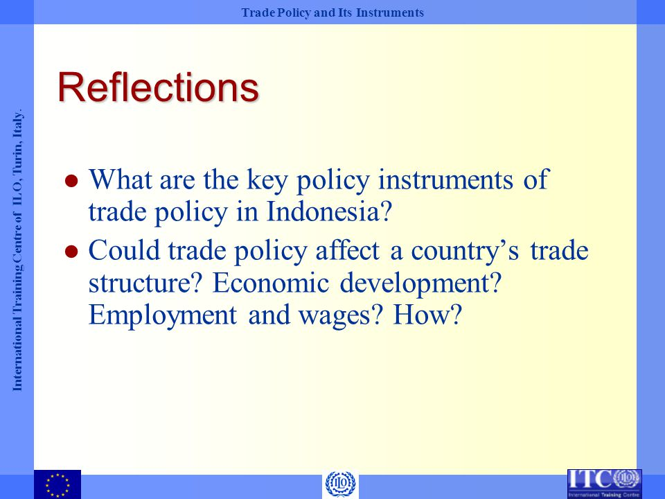 Reflections What are the key policy instruments of trade policy in Indonesia