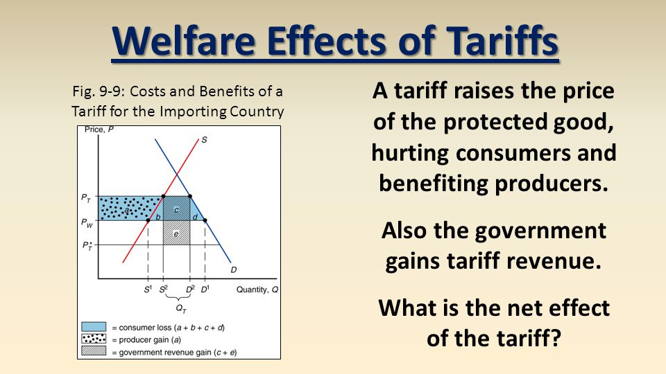 Welfare Effects of Tariffs