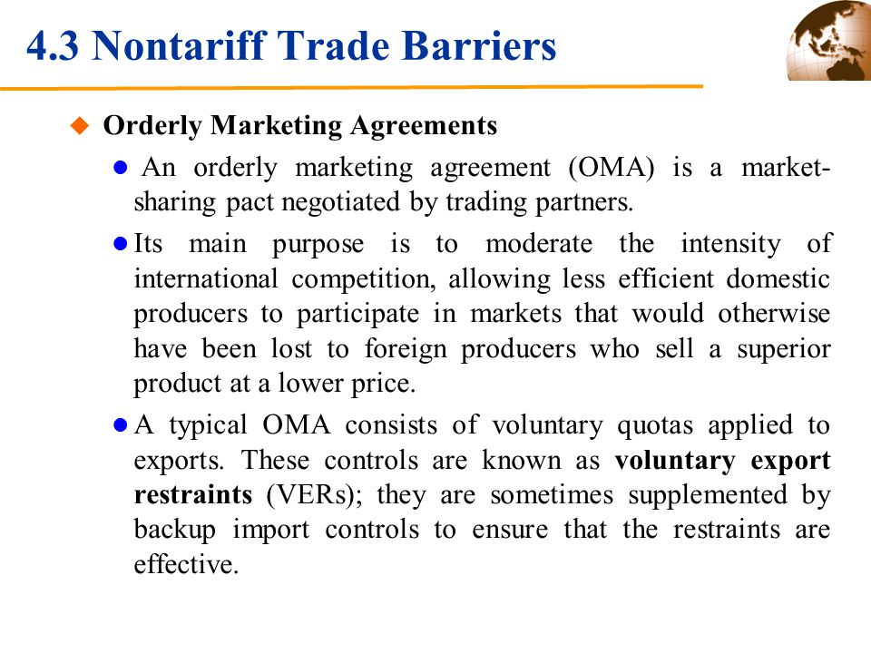Tariffs And Nontariff Barriers Ppt Download