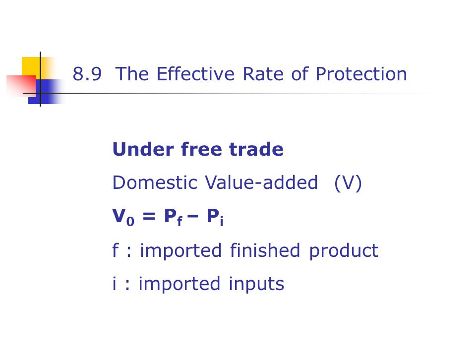 8.9 The Effective Rate of Protection