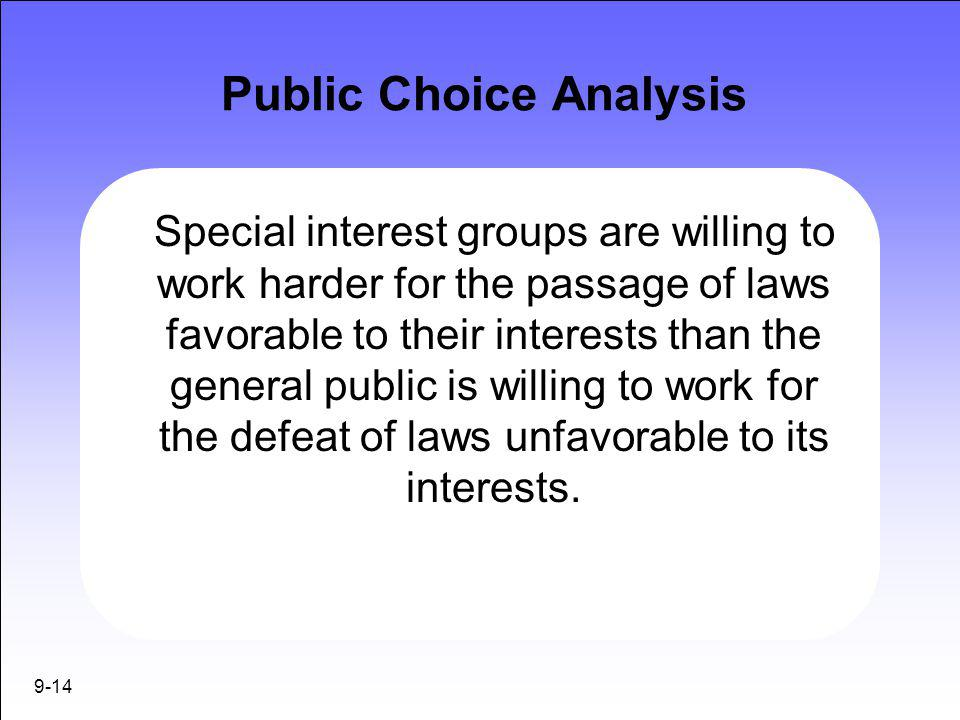 Public Choice Analysis