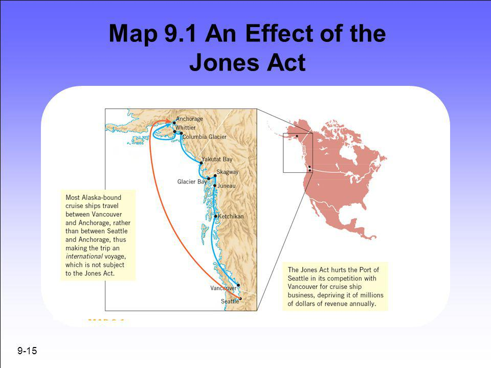 Map 9.1 An Effect of the Jones Act