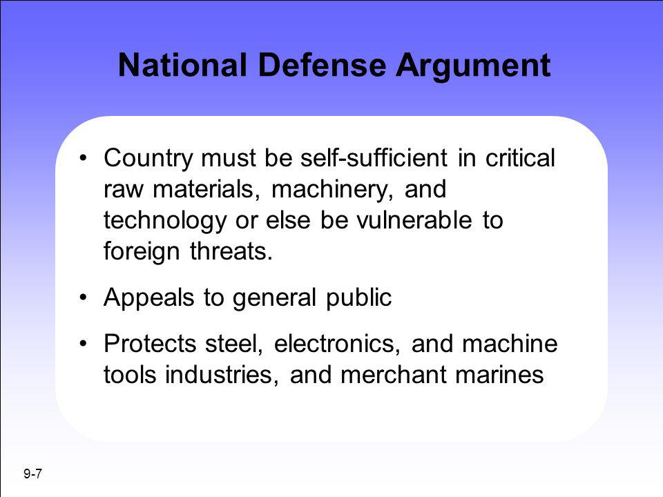 National Defense Argument