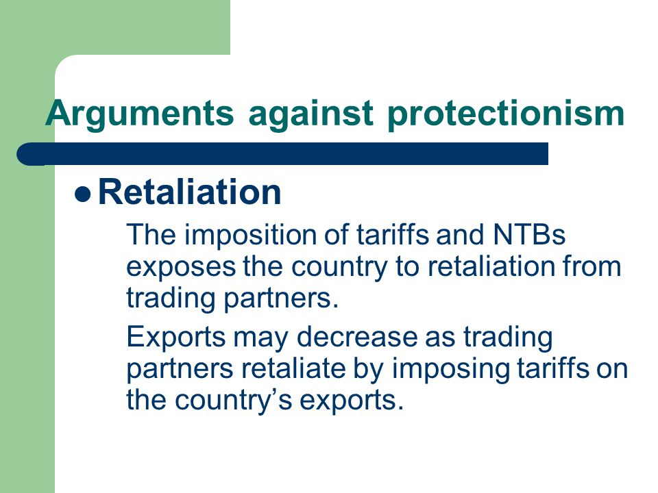 Arguments against protectionism