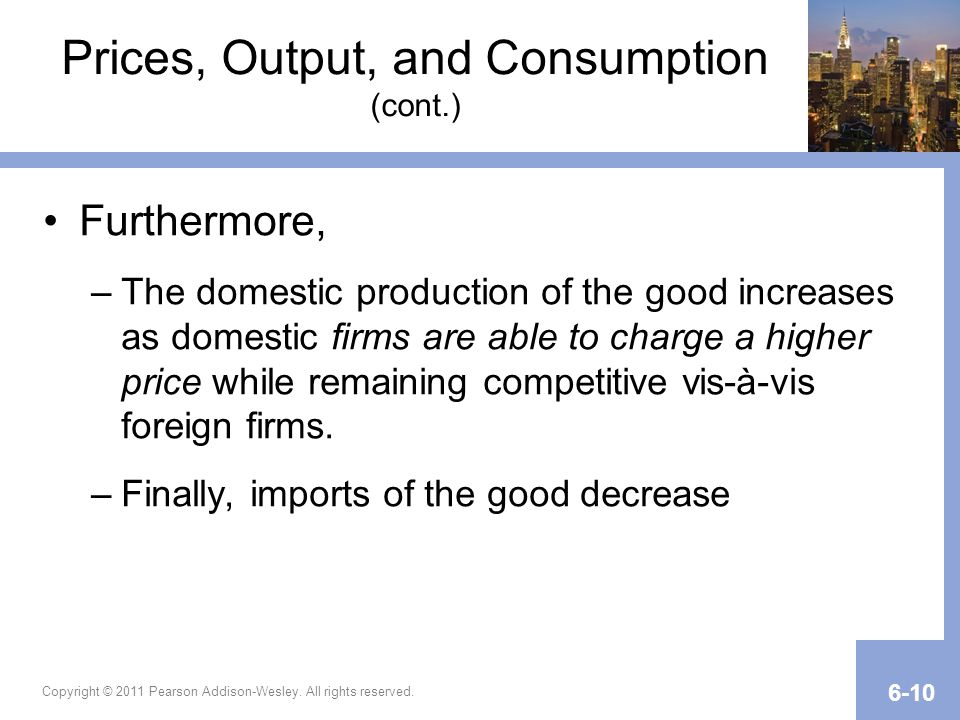 Prices, Output, and Consumption (cont.)