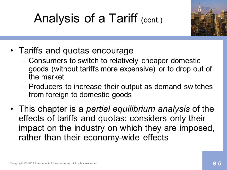 Analysis of a Tariff (cont.)