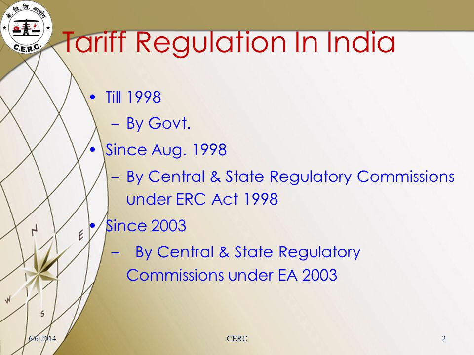 Tariff Regulation In India