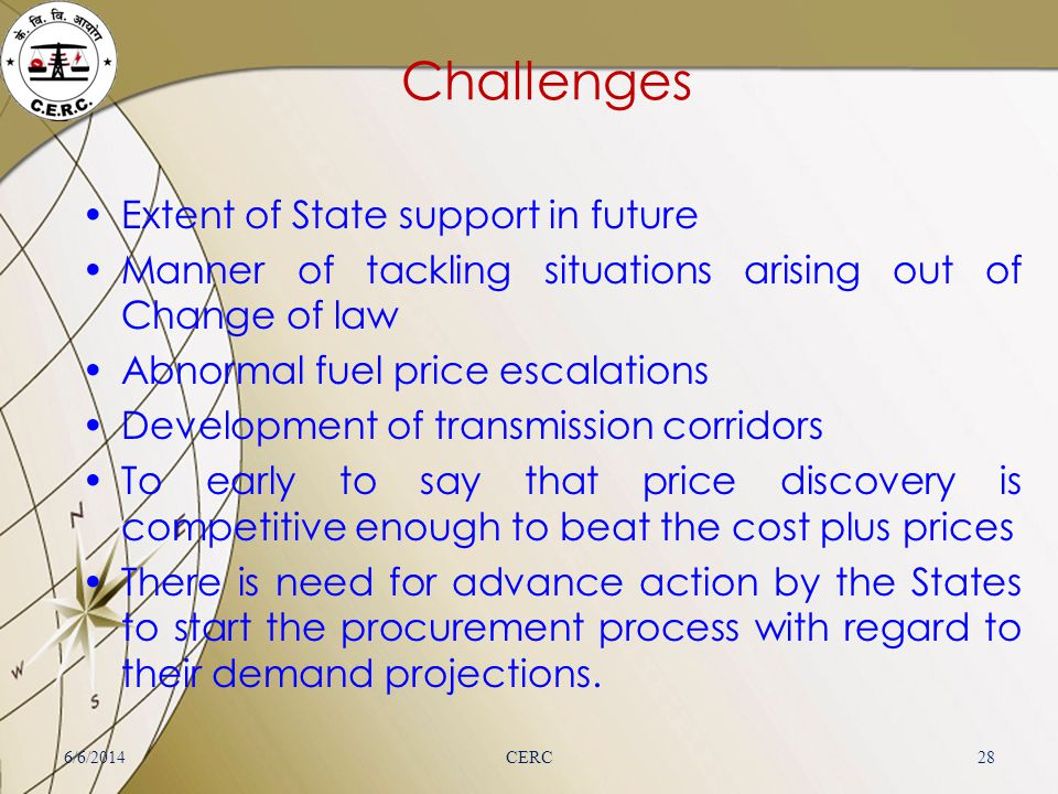 Challenges Extent of State support in future