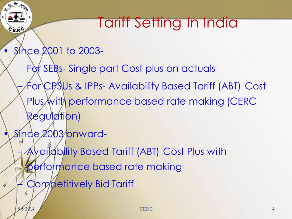 Tariff Setting In India