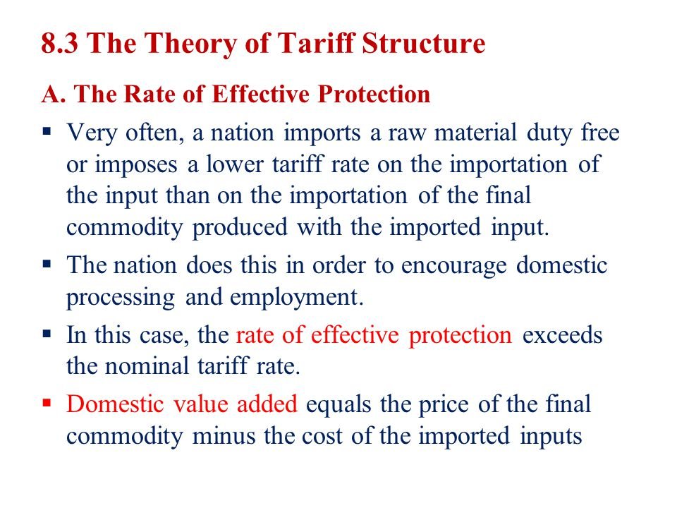 8.3 The Theory of Tariff Structure