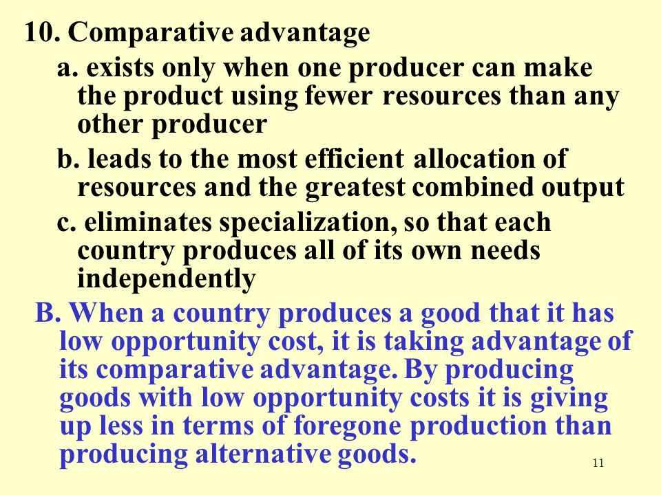 10. Comparative advantage