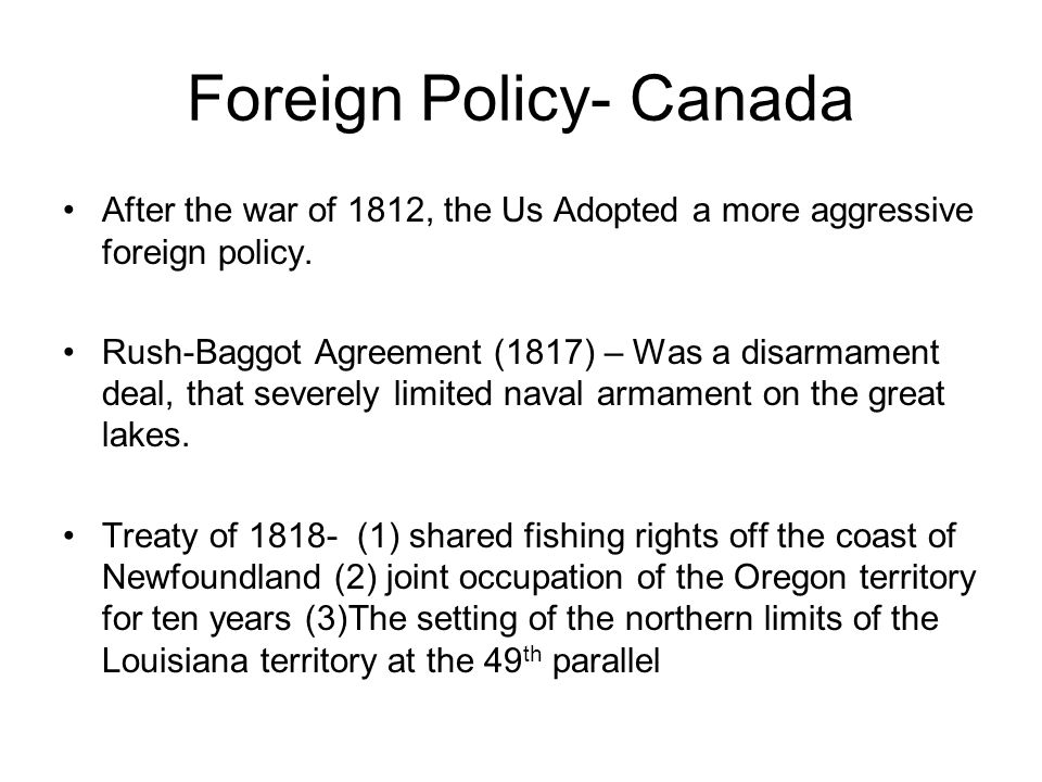 Foreign Policy- Canada