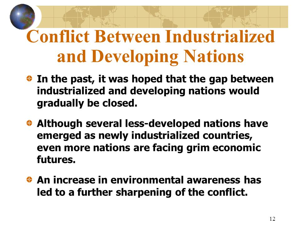 Conflict Between Industrialized and Developing Nations