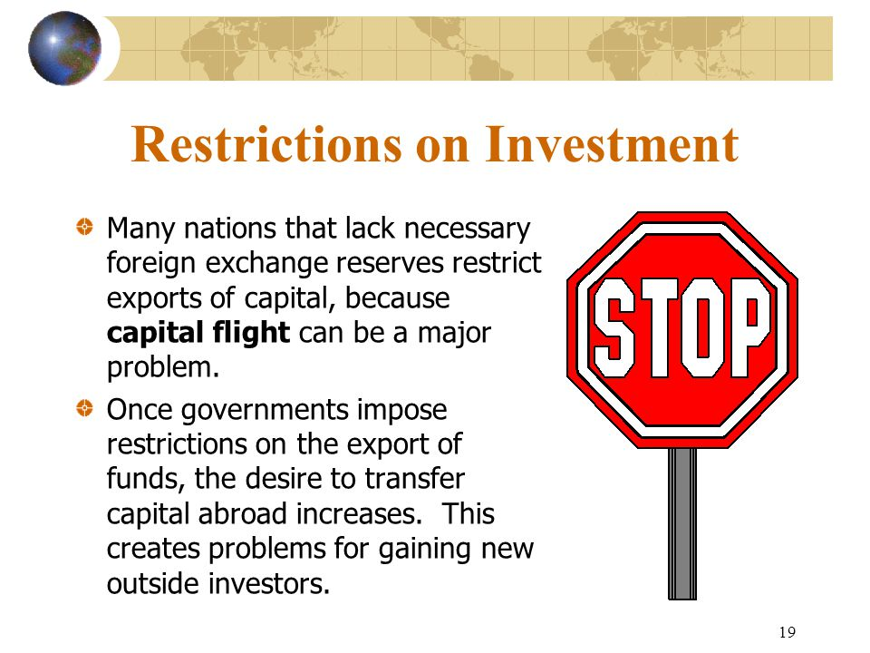 Restrictions on Investment