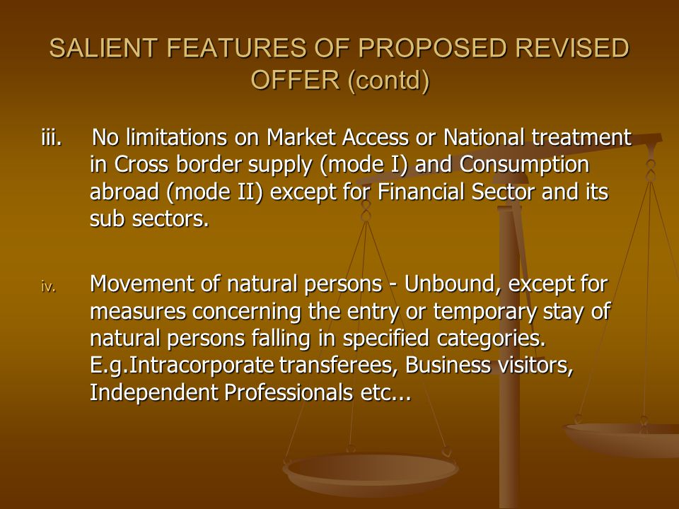 SALIENT FEATURES OF PROPOSED REVISED OFFER (contd)
