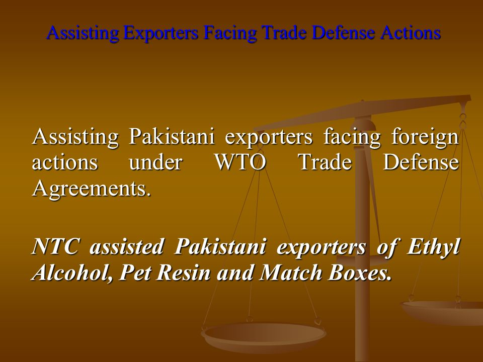 Assisting Exporters Facing Trade Defense Actions