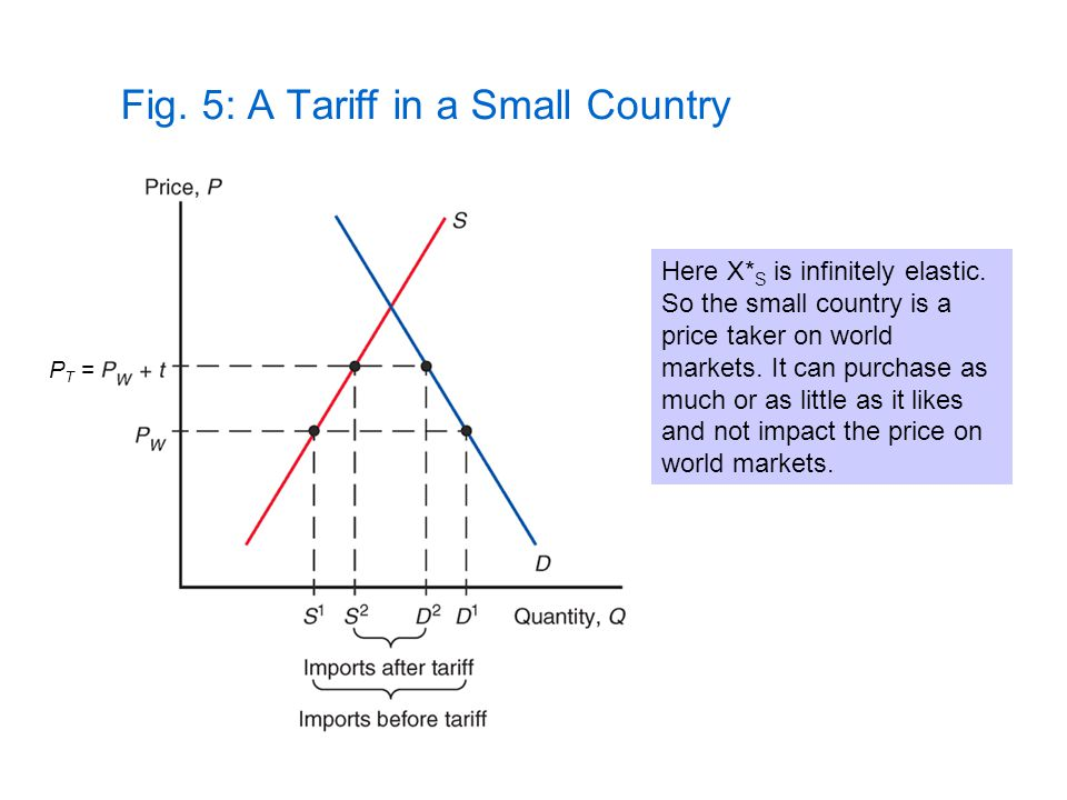 Fig. 5: A Tariff in a Small Country