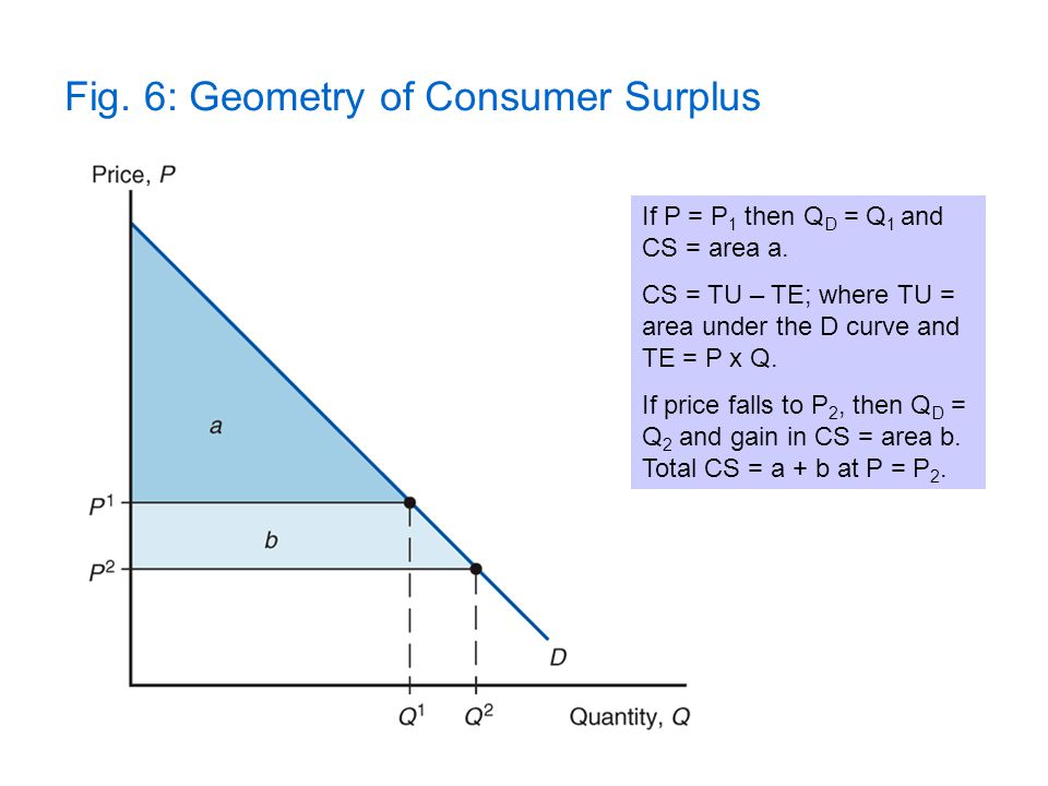 Fig. 6: Geometry of Consumer Surplus