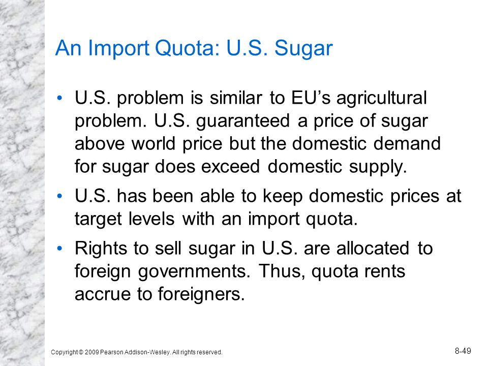 An Import Quota: U.S. Sugar