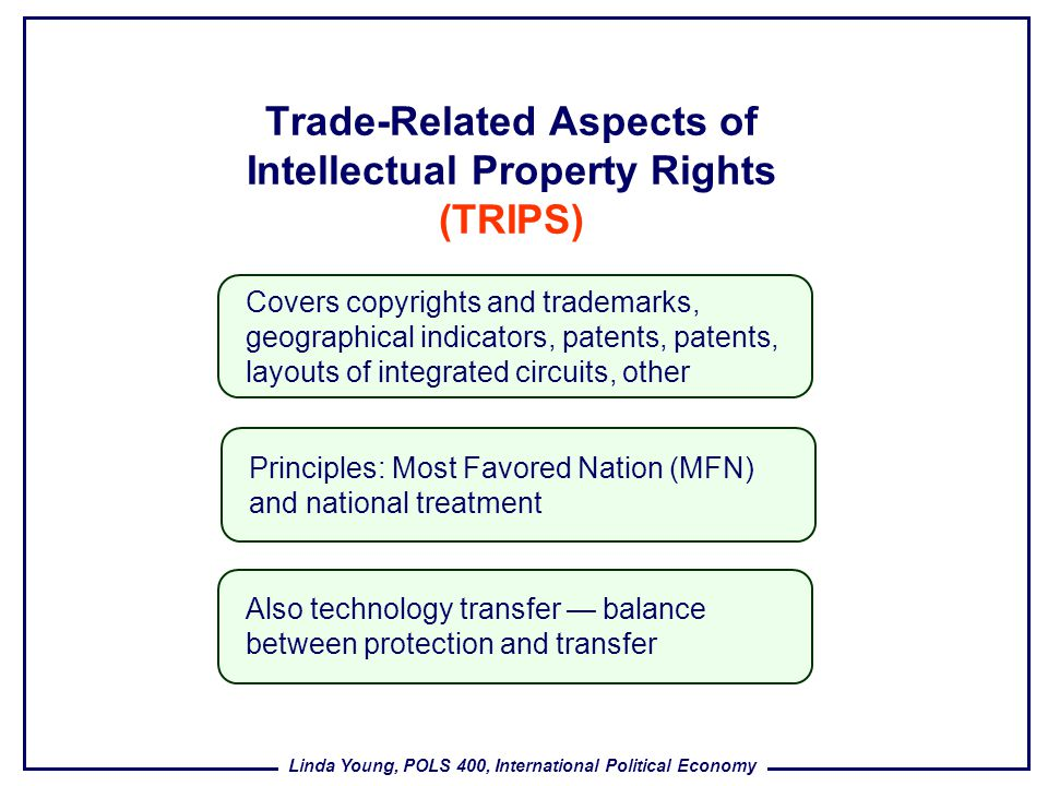 Trade-Related Aspects of Intellectual Property Rights (TRIPS)