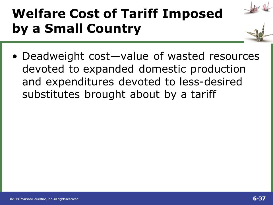 Welfare Cost of Tariff Imposed by a Small Country