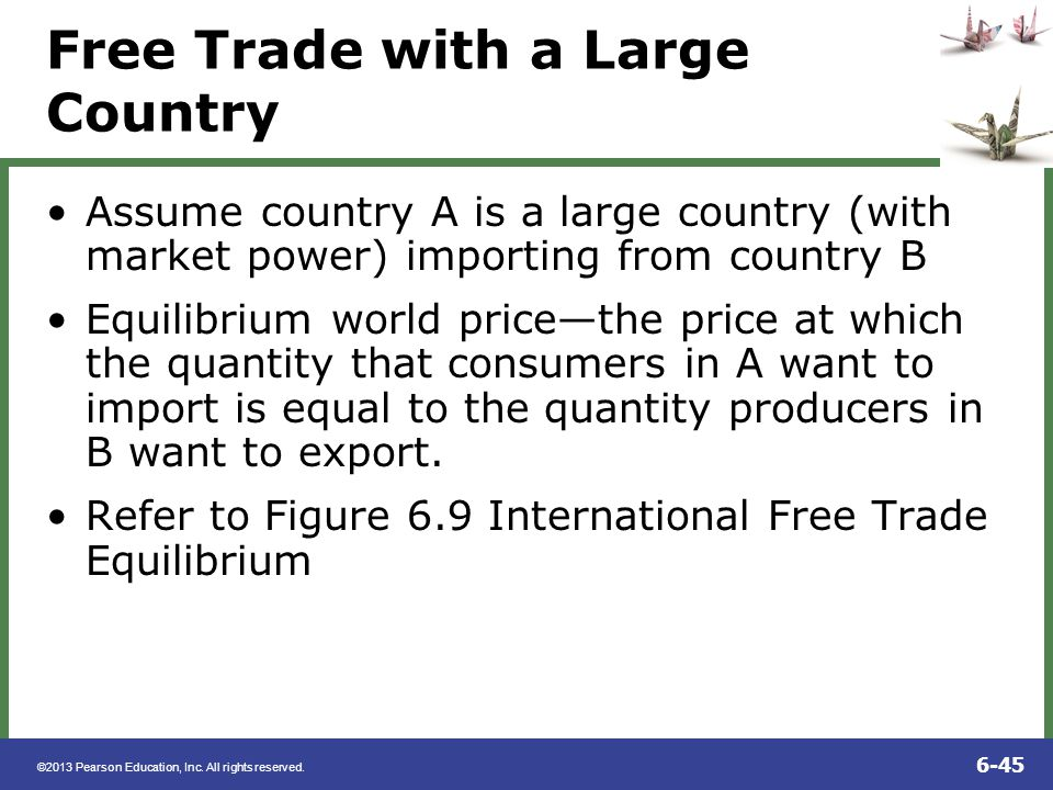 Free Trade with a Large Country
