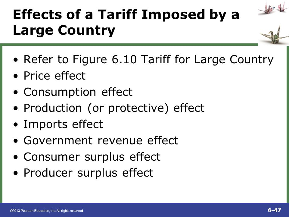 Effects of a Tariff Imposed by a Large Country