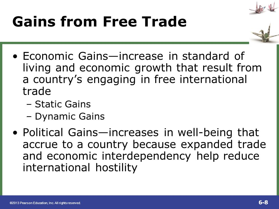 Gains from Free Trade