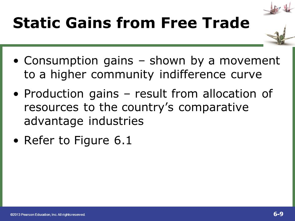 Static Gains from Free Trade