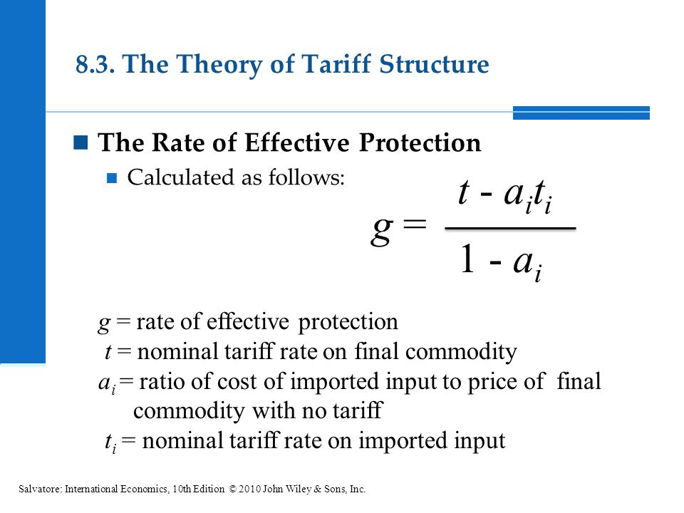 8.3. The Theory of Tariff Structure