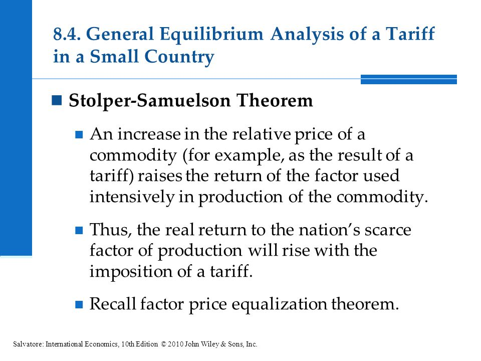 8.4. General Equilibrium Analysis of a Tariff in a Small Country