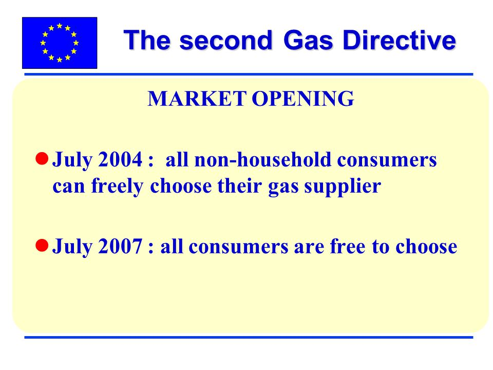 The second Gas Directive