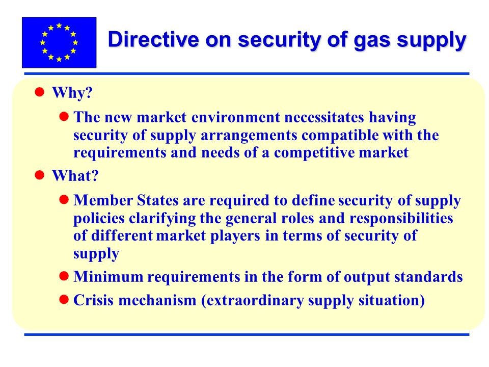 Directive on security of gas supply