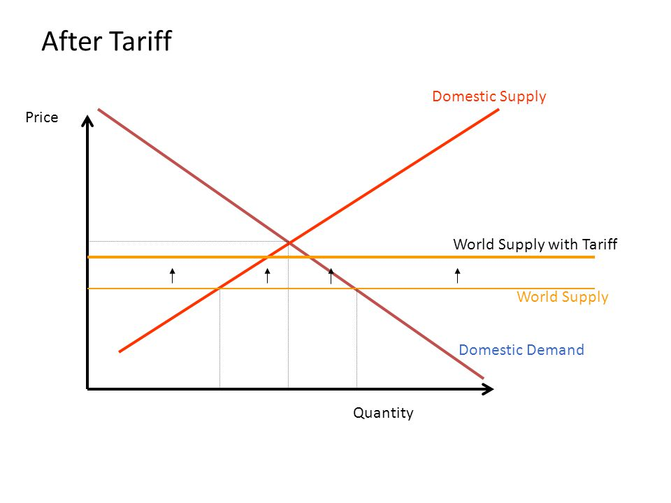 After Tariff Domestic Supply Price World Supply with Tariff